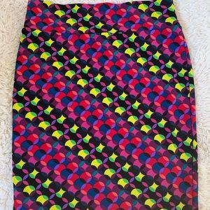 Plus size LuLaRoe plus size multi colored skirt